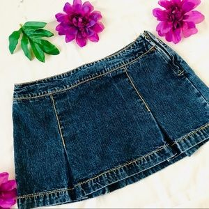 VTG 90s Tommy Hilfiger denim jean pleated skirt